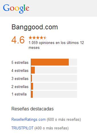 Banggood Valoración