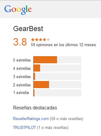 GearBest Valoración